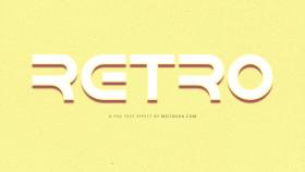 Stock Image: retro psd text effect