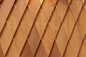 Stock Image: Rhombic pattern Wood texture