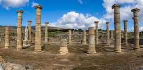 Stock Image: Ruins of a Roman city in Spain