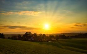 Stock Image: Rural sunset scenery