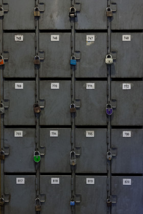 Stock Image: safe deposit boxes texture