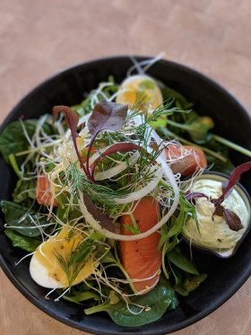 Stock Image: salmon salad