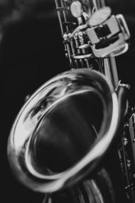 Stock Image: saxophone black and white