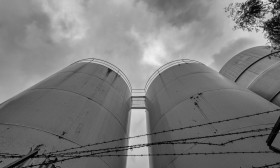 Stock Image: Silos of a factory