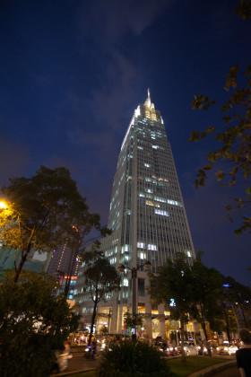 Stock Image: skyscraper at night