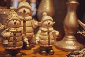 Stock Image: snowman family - christmas decoration