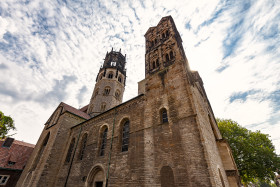 Stock Image: st ludgeri church in munster by germany