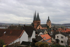Stock Image: St. Mary church in Gelnhausen, Germany