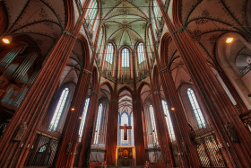 Stock Image: St. Mary's church at Lübeck, Schleswig-Holstein, Germany