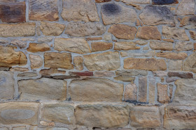 Stock Image: Stone wall texture of an old castle