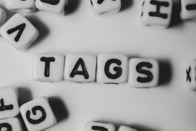 Stock Image: tags top view