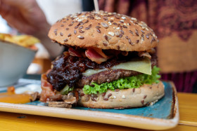 Stock Image: Tasty burger