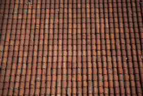 Stock Image: tile roof texture