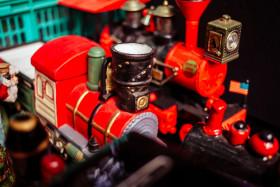 Stock Image: Toy Steam Locomotive