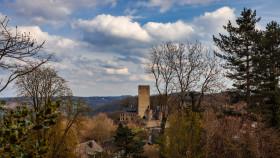 Stock Image: View of castle Blankenstein in Hattingen