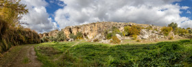 Stock Image: Villanueva de las Torres Analucia Spain Landscape