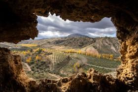 Stock Image: Villanueva de las Torres Landscape in Spain