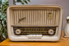 Stock Image: Vintage antique radio