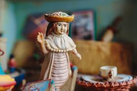 Stock Image: Vintage girl doll