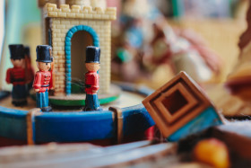 Stock Image: Vintage Toy Soldiers