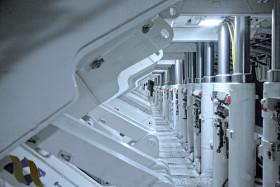 Stock Image: warship machine room