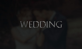 Stock Image: wedding as a word on black background