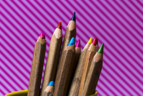 wooden colored pencils
