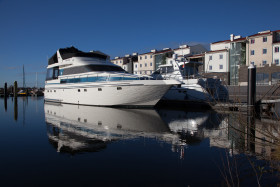 Stock Image: yacht in harbor