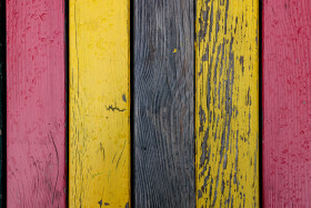 Stock Image: Yellow and red wooden wall texture