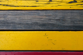 Stock Image: Yellow wooden wall texture